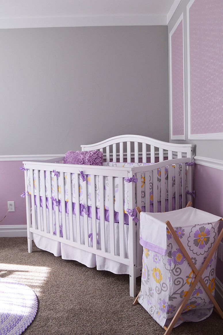 Gray and purple nursery idea that is gender neutral [Design: Interior Concepts Design House]
