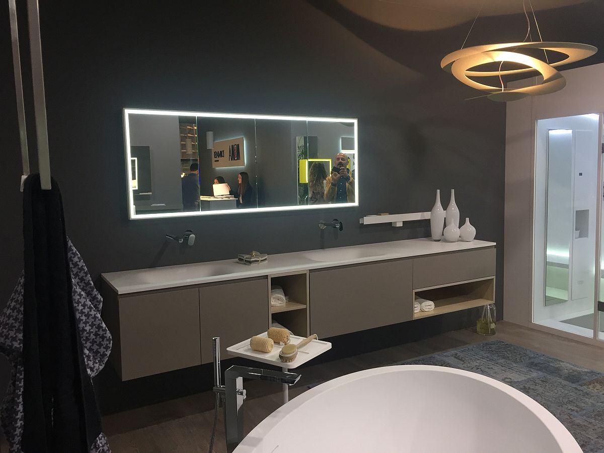 Gray vanity design from Dimasi Bathroom