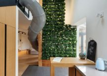 Wow factor playful kiev apartment with giant slide and green wall - The giant slide apartament ...