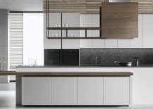 Handleless panel doors give the kitchen a minimal and sleek look