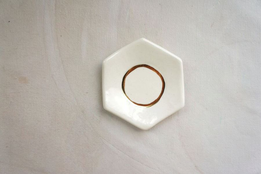 Hexagonal ring dish from The Object Enthusiast