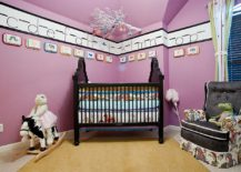 Hues between violet and purple in the color spectrum create more vibrant backdrops in the nursery!