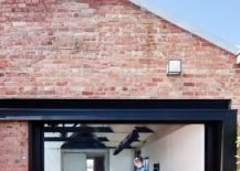 Indoor-outdoor inteplay of the modern kitchen inside Water Factory in North Fitzroy