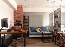 Industrial loft style apartment in Taipei City 217x155 All About Space: Tiny Industrial Loft Style Apartment in Taipei City