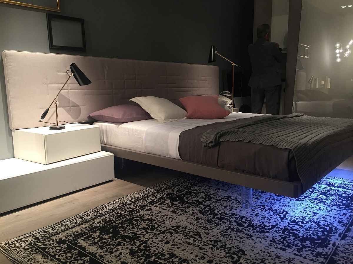 Ingenious floating bed concept from MobilGAM 45 Bedroom Ideas Trending at Salone del Mobile, Milan 2016