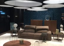 Ingenious use of coffe tables to create a cool focal point in the living room - Alberta Salotti at Milan 2016