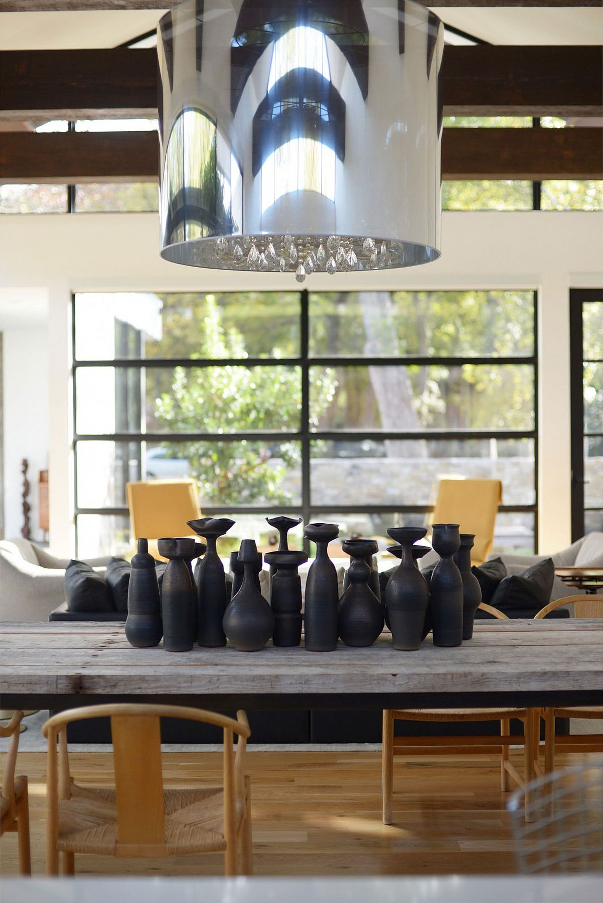 Interesting collection of accessories inside the modern Texas home