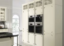 Kitchen unit combines ample storage with modern appliances