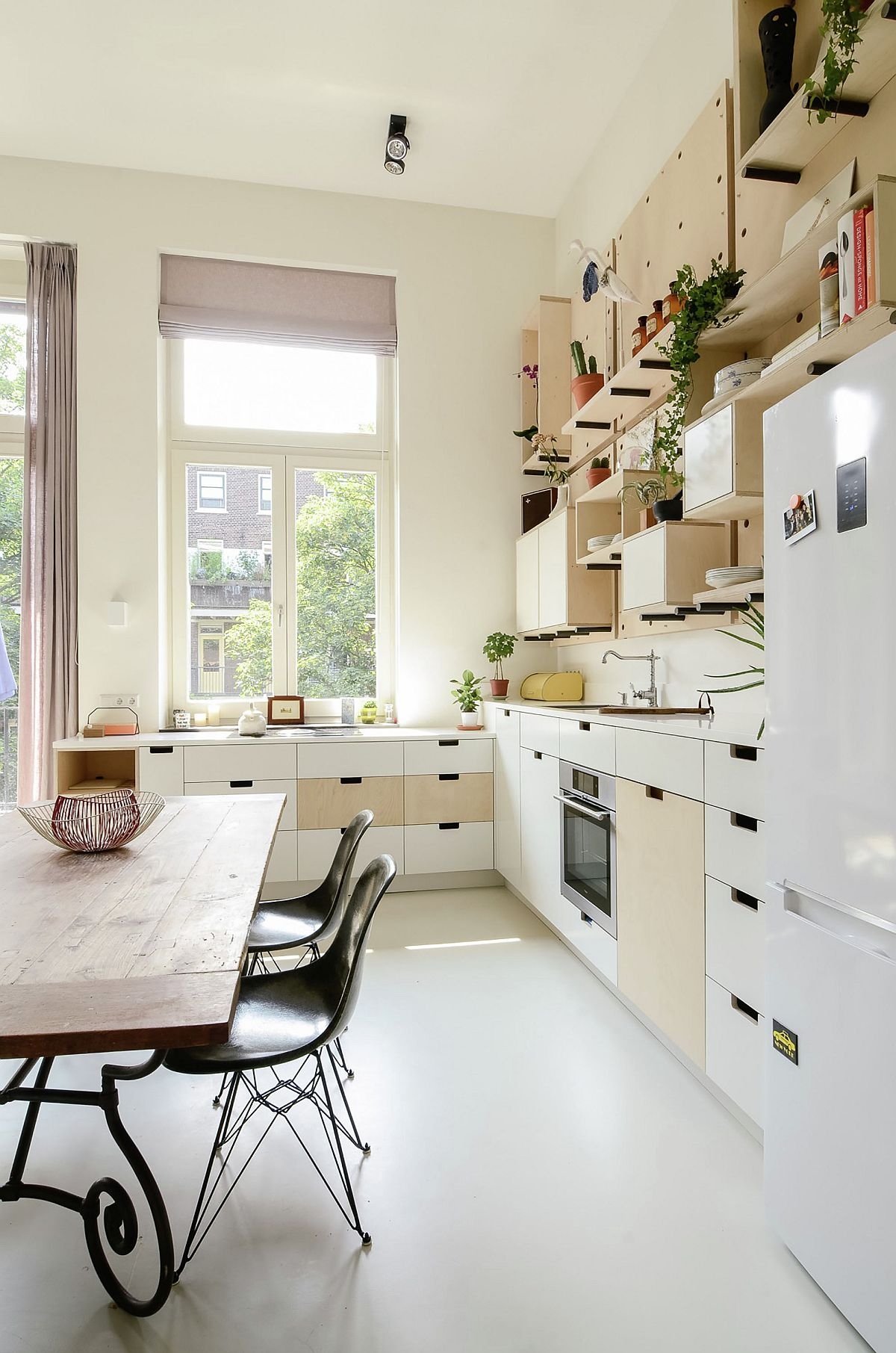 Kitchen with ample storage space