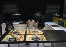 L-shaped corner kitchen design from EuroCucina 2016