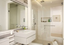 Lavish modern bathroom in white