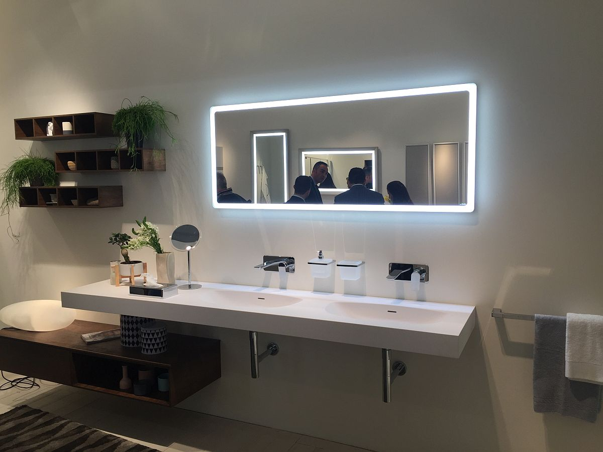 Led Strip Lighting Around The Mirror Bathroom Decor And Lighting Ideas From Inda Decoist