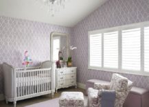 Lilac purple shapes a relaxing and cute girl's nursery