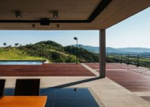 Living area of House JJ that opens up towards the view outside