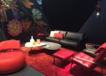Living room design inspiration from Salone del Mobile 2016 for those who adore a splash of red