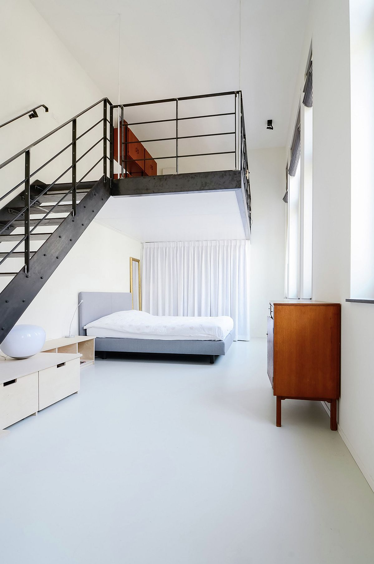 Loft level space above the bed inside the master bedroom