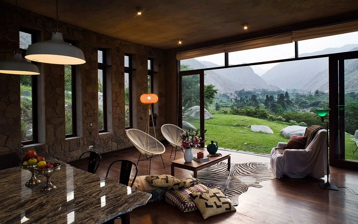 Magnificinet veiws of the landscape from Casa Chontay on a rural plot south-east of Lima