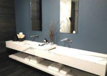 Marble adds luxury to the bathroom vanity
