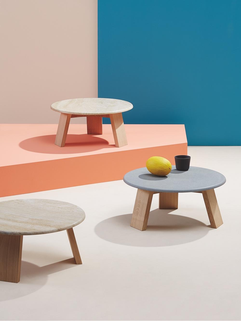 Maya side tables byLars Beller Fjetland for Discipline.