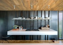 Metal finds unique space even in the most minimal of kitchens