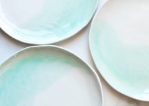 Mint dinner plates from Suite One Studio
