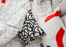 Modern abstract bedding from Dusen Dusen 217x155 Spring Bedding Ideas: Abstract and Geometric Motifs