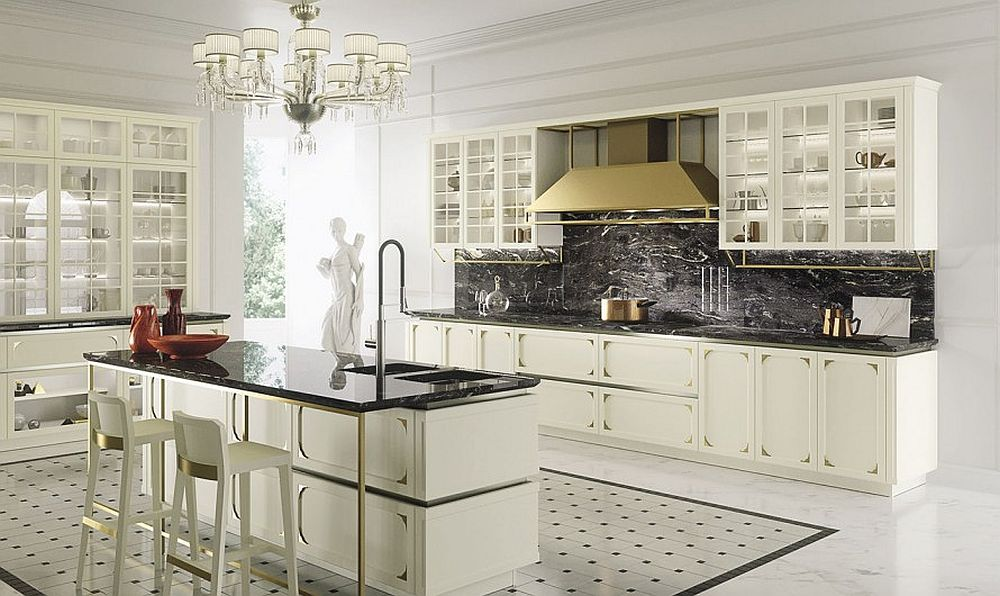 Modern and classic elements fused inside charming kitchen from Snaidero