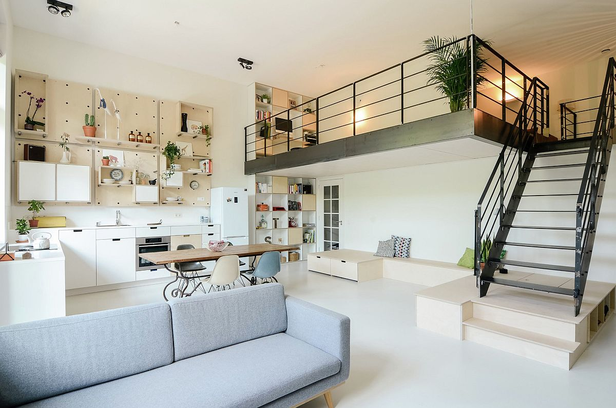 Modern apartment for a family of four Ons Dorp in Netherlands Early 1900s School in Amsterdam Turned into a Cheerful Apartment