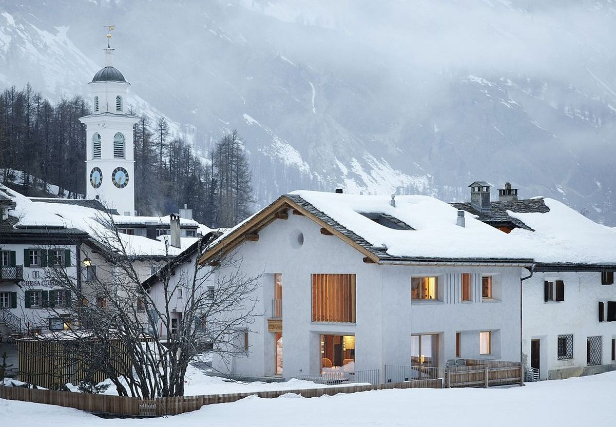 In the majestic shadow of alps cozy home renovation in for Renovating a barn into a house