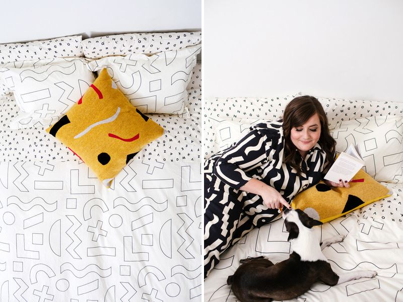 Modern bedding from Dusen Dusen