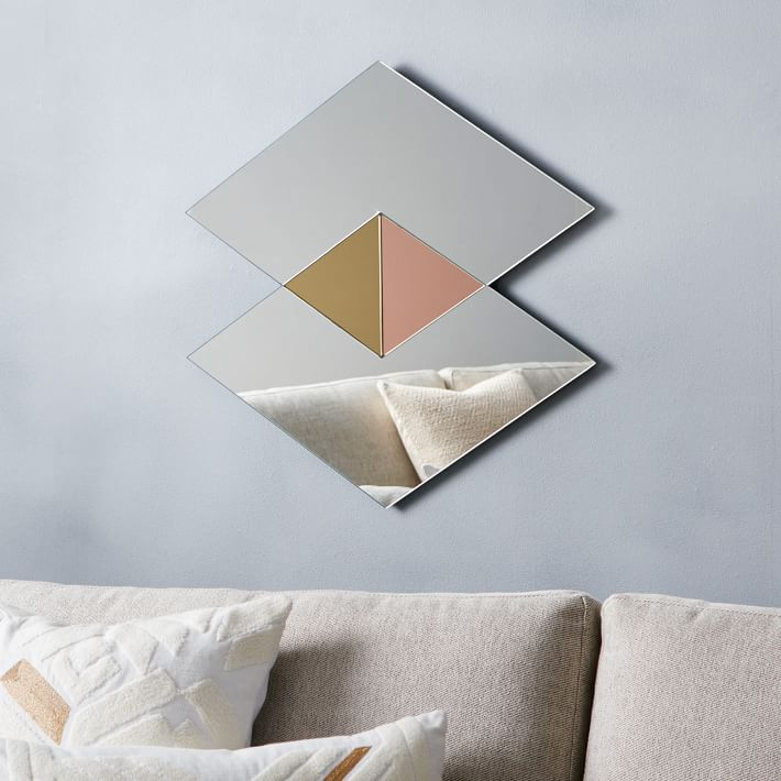 Modern geo mirror from West Elm
