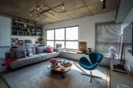 Concrete, Cement and Creative Lighting: Space-Savvy Apartment in Sao Paulo