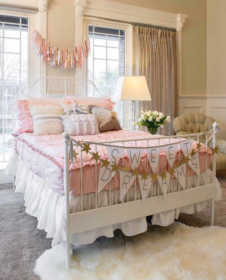 Modern shabby chic style brings relaxed elegance to the kids' room [Design: Beddy's]