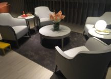 Montbel offers restaurant styled setaing for those who wish to bring a hotel room ambiance into the living room