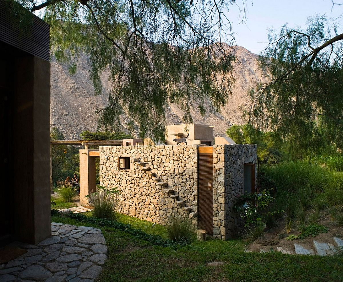 Natural stone from the landscape used in building the beautiful home in Peru