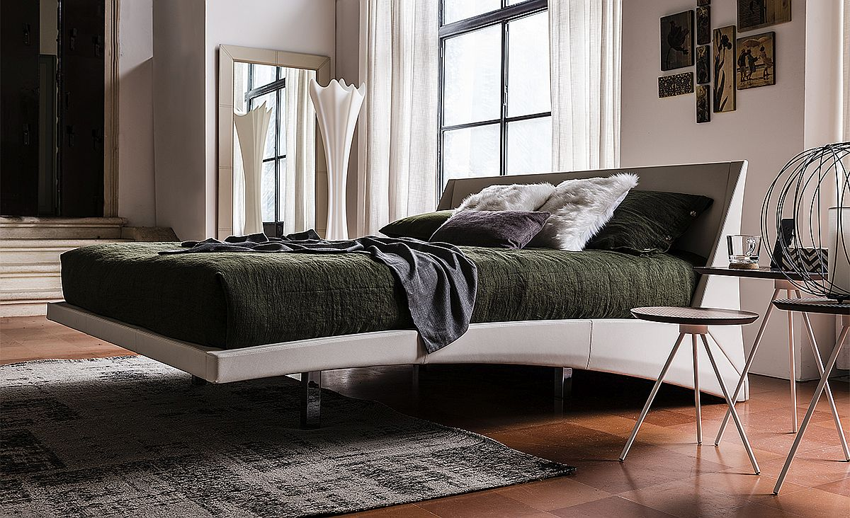 contemporary beds contemporary beds Contemporary Beds for Comfortable and Cozy Bedrooms Neatly tucked chromed steel feet of Dylan are almost invisible