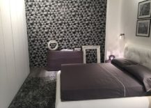 Neutral color scheme for the bedroom with patterned walls - Line Gianser at Salone del Mobile 2016
