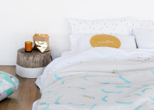 New Memphis bedding from Feliz 217x155 Spring Bedding Ideas: Abstract and Geometric Motifs