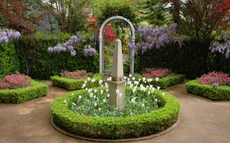 Obelisk in the garden