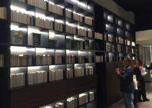 Open bookshelves that make perfect use of vertical space - Ceccoti Collezioni at Salone del Mobile 2016