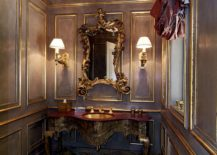 Ornate vanities are perfect for the charming Victorian powder room