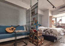 All About Space: Tiny Industrial Loft-Style Apartment in Taipei City