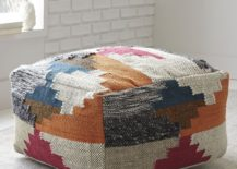 Patterned wool pouf from West Elm 217x155 Modular Style: 10 Handy Uses for the Pouf