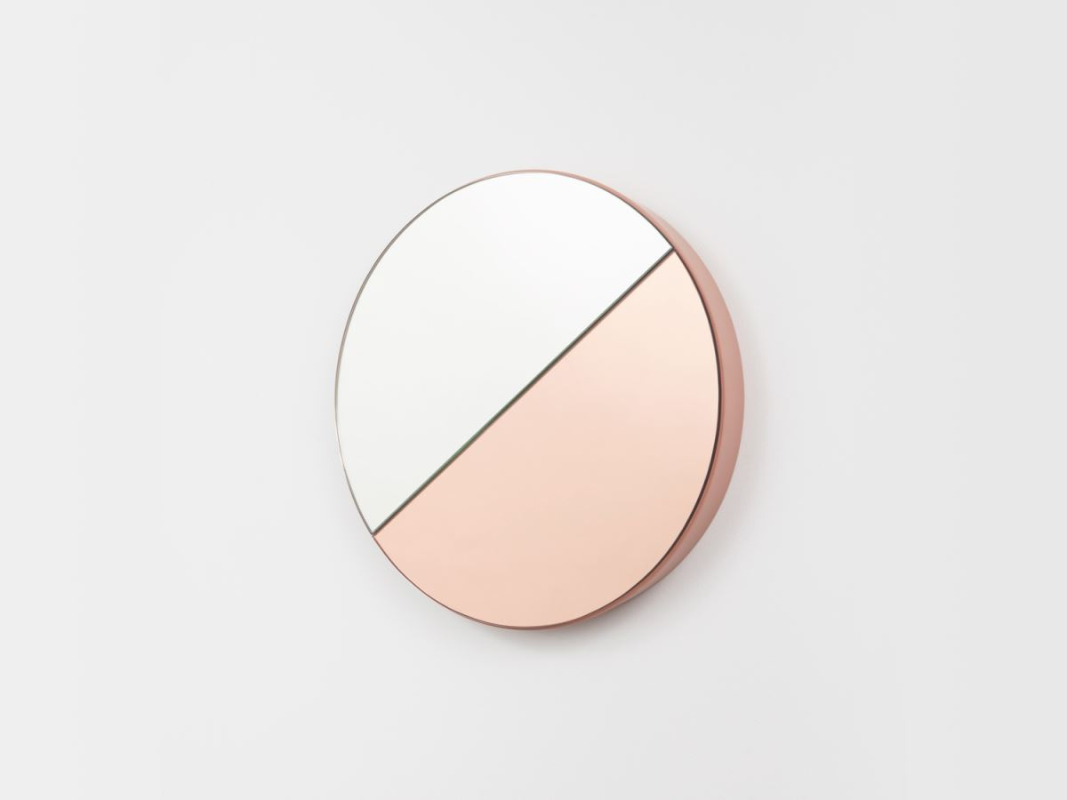 Peach tinted glass mirror from Middle of Nowhere