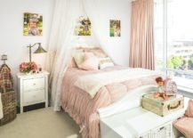 Pink and white shabby chic kids' bedroom for your little princess