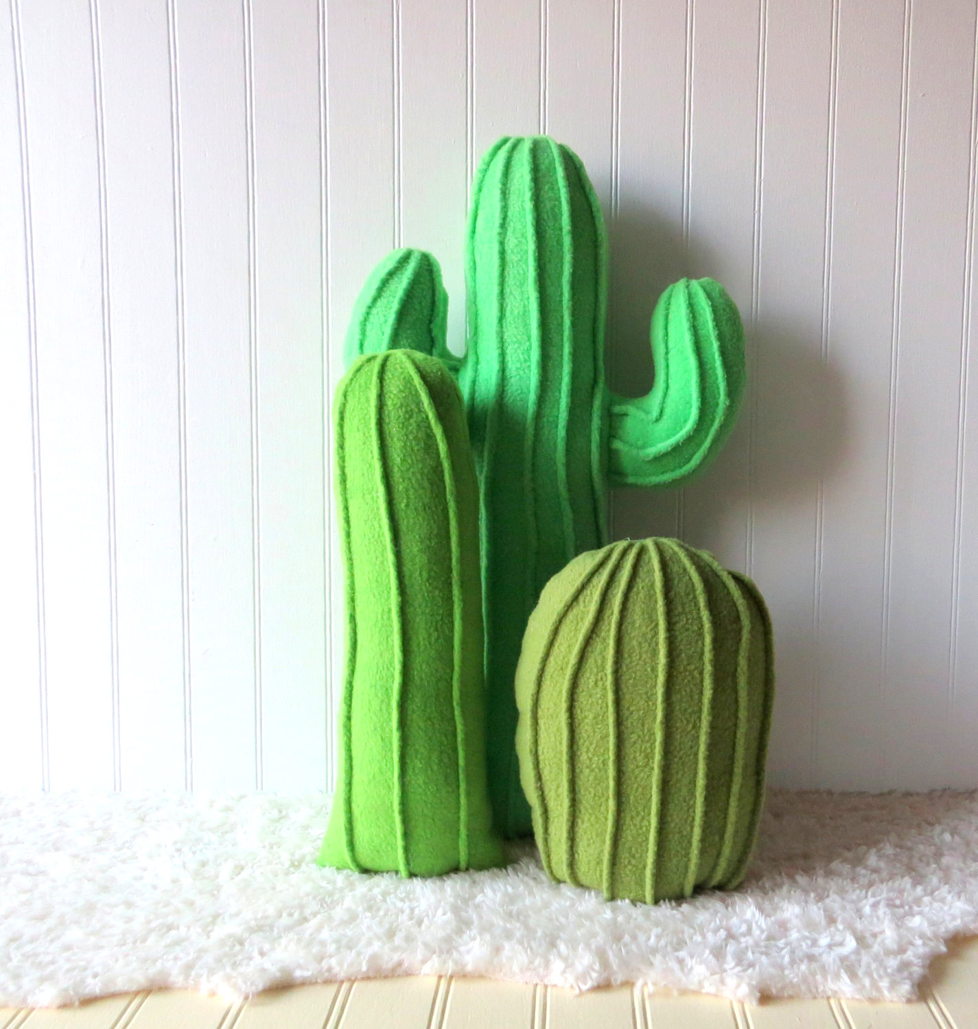 Plush cactus garden from Etsy shop Wild Rabbits Burrow