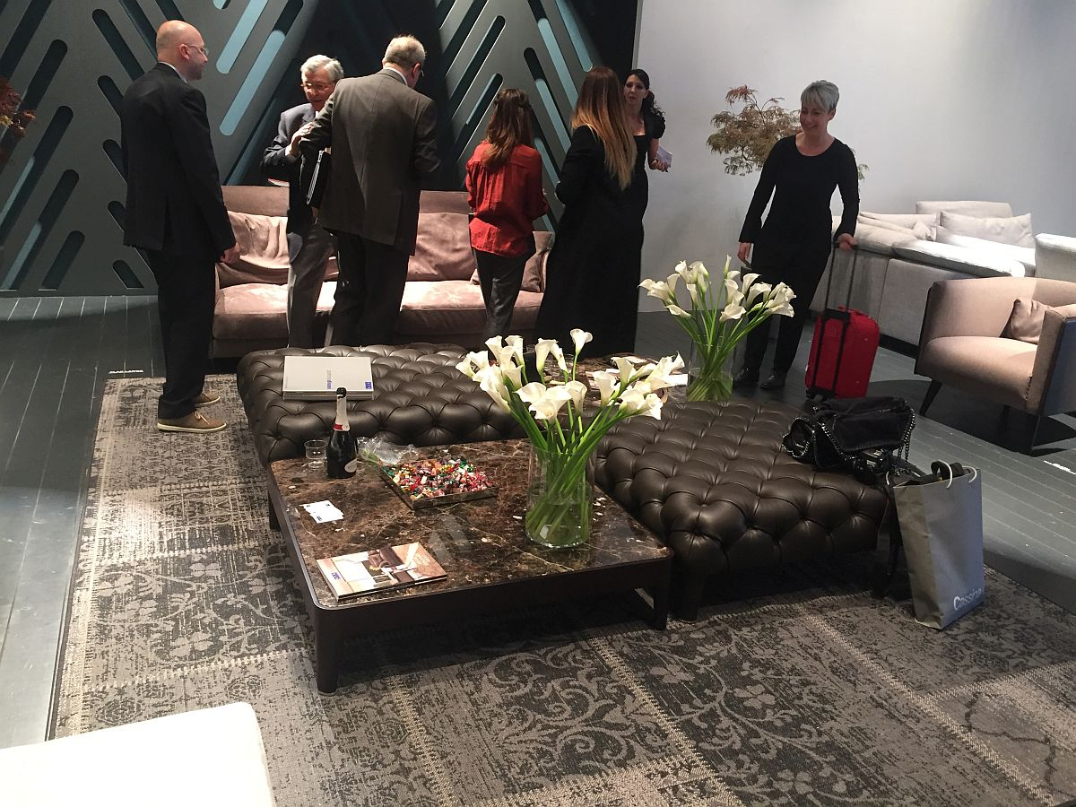 Plush coffee tables also offer additional seating space in the living room - Inspiration from Milan 2016