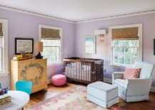 Purple looks great in the traditional nursery as well!