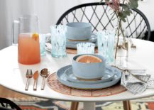 Round copper placemat from CB2