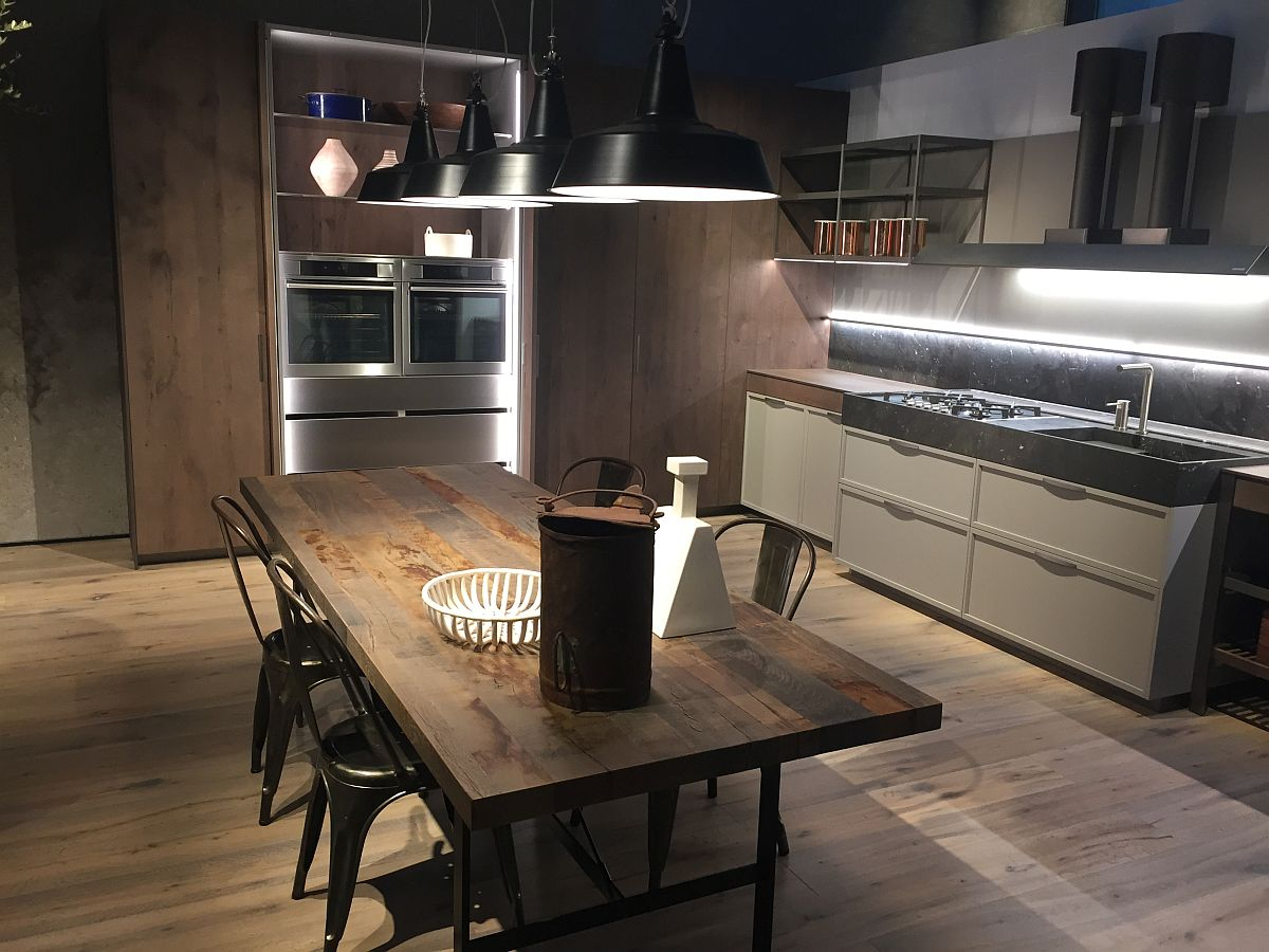 Rustic modern dining space inspiration from Ernestomeda at Milan 2016